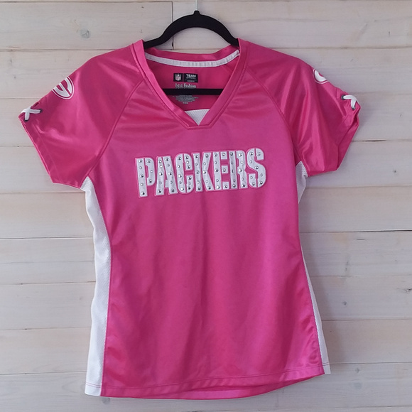 NFL Tops | Green Bay Packers Pink